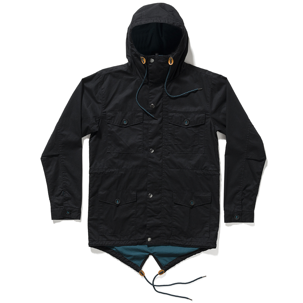 the quiet life bowery fishtail jacket black_teal