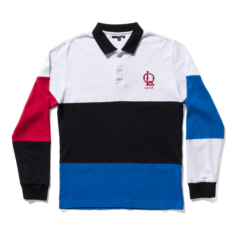 the quiet life sports polo long sleeve white
